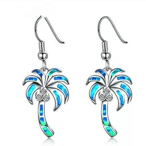 Tropical Palm Tree Coconut Earrings